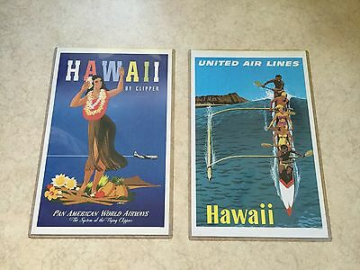 Hawaii Poster United Airlines & Pan American World Airways Posters