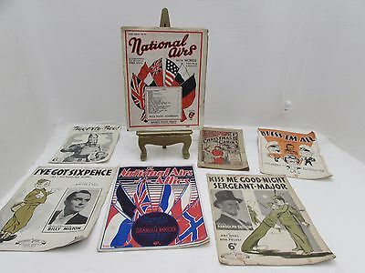"Collection Of Antique Sheet Music ""Bless Em All"",""Christmas Carols"" & Others"