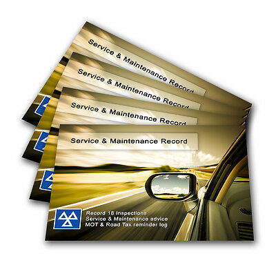 Premium Vehicle Service Book - Blank History Log Maintenance Record Replacement.