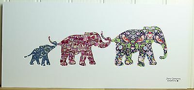 Liberty Of London Fabric Elephant Family Silhouette Picture 2984