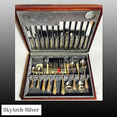 SILVER PLATED EPNS Cutlery Set 42 Piece COOPER LUDLAM SHEFFIELD Cased