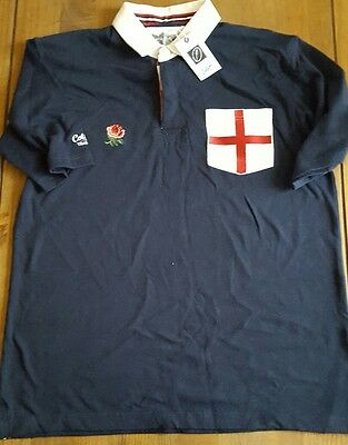 mens large cotton traders England rugby shirt