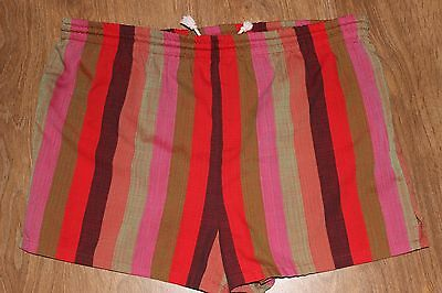 Mens 36 Vtg 40s 50s MCGREGOR Galey & Lord Swim Surfing Shorts Striped No Liner