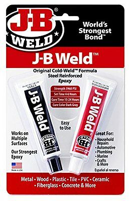 J-B Weld 8265S Cold Weld Steel Reinforced Epoxy with Hardener, 2 oz