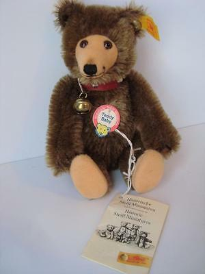 "1930 Replica 6"" Steiff Teddy Baby Bear Mint Tags Button 029721 BROWN Miniature"