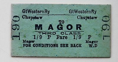 GWR 3rd class single from Chepstow to Magor