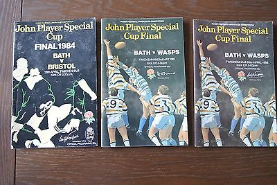 John Player Special Rugby Union Cup Final Programmes