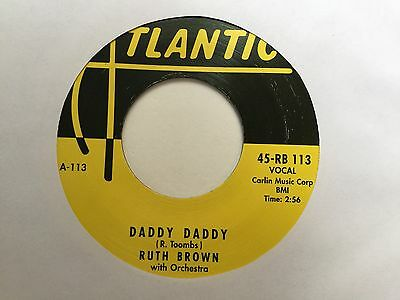 "Ruth Brown & Orchestra- Daddy Daddy / I Would If I Could 7"" R&B Funky Atlantic"