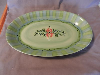 Oval Green Serving Bowl Platter Southern Living Provence by Gail Pittman (M)