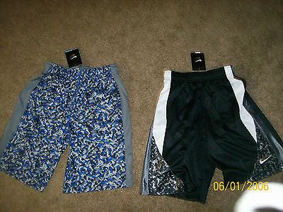 Nwt 2 Pairs Of Boys Sz Small 8 Nike Basketball And Training Shorts Great Buy