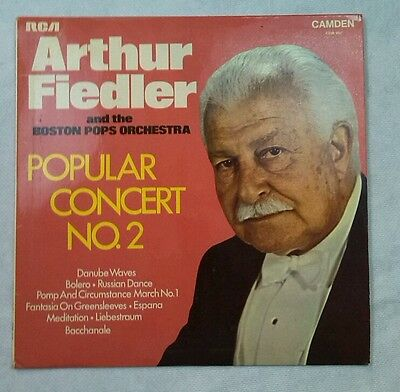 "Arthur Fiedler Popular Concert No.2 RCA CDM 1051 UK 1969 12"" Vinyl LP Album NM"