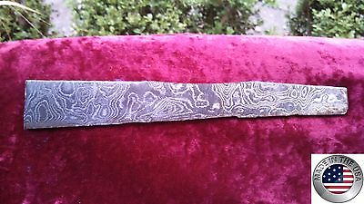 Damascus Steel Knife Blade Strip Hunting / Survival / Kitchen / Jewelry .140