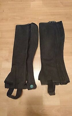 Ladies  Half Chaps Suede Size Small