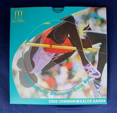 """2002 Royal Mint £2 coin x 4 set """"Commonwealth Games"""" in folder   (Y3/48)"""