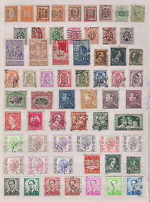 Collection Of Early  Used Belgium  Stamps  , See Scan