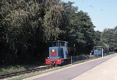 (276) French Narrow Gauge Diesel & Train? - 35mm Colour Slide