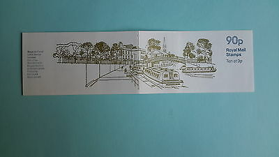 "FG6A with X883 pane, Canals Series, Regents Canal, 90p Folded Booklet, ""Dec 1978"