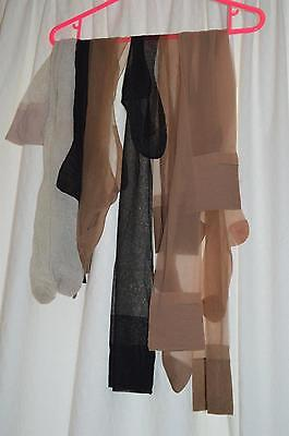 6 Pairs of mostly worn vintage nylon stockings inc Fully Fashioned seamed
