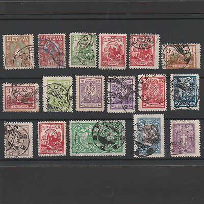 LIETUVA / LITHUANIA 1920s SELECTION OF STAMPS (17)