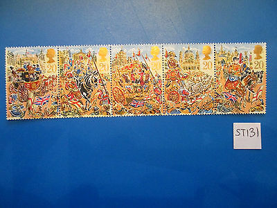 1989 GB Commemoratives: Lord Mayors Show, se-tenant, ex-fdc   #ST131