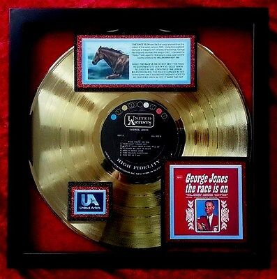 GEORGE JONES  The Race Is On  GOLD RECORD   Found - Never shipped from warehouse