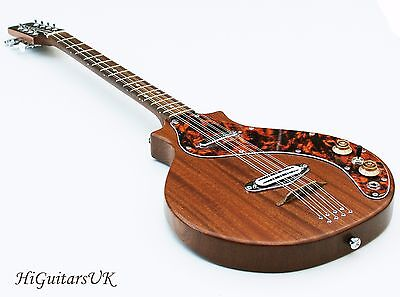 HiGuitarsUK Solid Body Electric Bouzouki. Handcrafted In The UK. NEW
