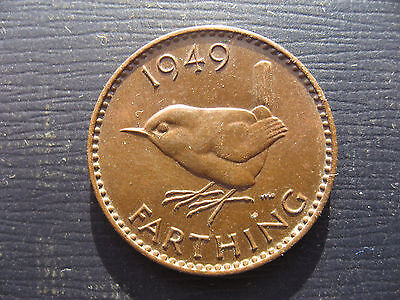 George VI Farthing 1949. High grade.