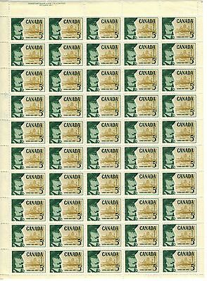 Canada Stamp #379 Inscription Sheet 50 stamps Plate 1 UL MNH Champlain