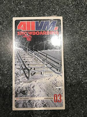 411VM Snow Issue 3 Snowboarding Video VHS PAL