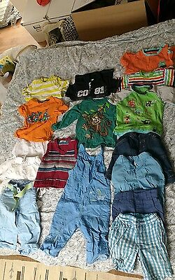 Job lot of boys/ unisex baby/toddler clothes 9-18 months