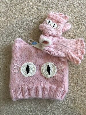 Next Girls Hat And Glove Set Age 3-6 Years