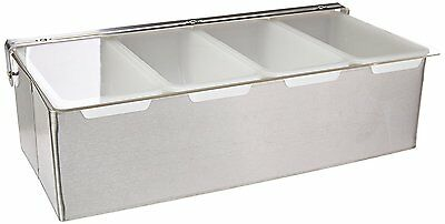Star 48025 Stainless Steel Condiment Dispenser with 4 Compartments