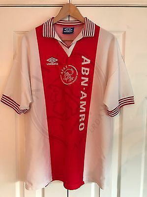 Ajax 1995-1996 Home Football Shirt Size L