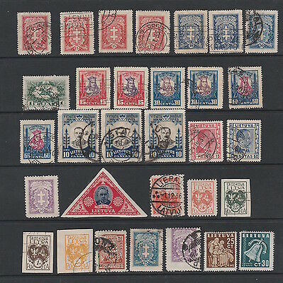 Lithuania And Area Selection Of Early Stamps Some Duplication Noted
