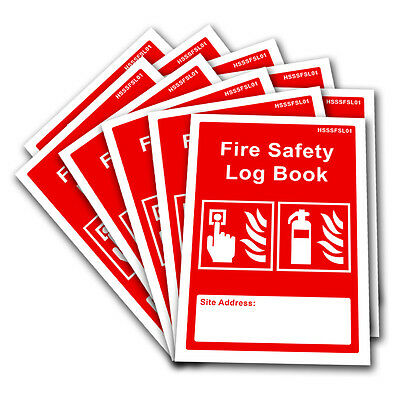 10 x Fire Safety Log Book Record Landlord Business Security Risk Assessment HSE