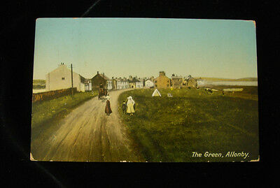 Old postcard - The Green, Allonby, Cumberland/Cumbria - posted 1912