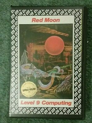 RED MOON vintage Level 9 text adventure for Sinclair ZX Spectrum