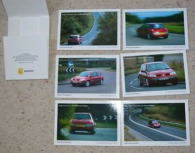 Renault Megan Promotion Post Cards