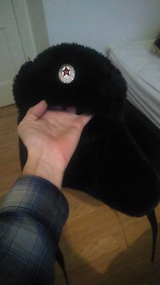 Soviet Union Communist Black Russian Hat (Ushanka)