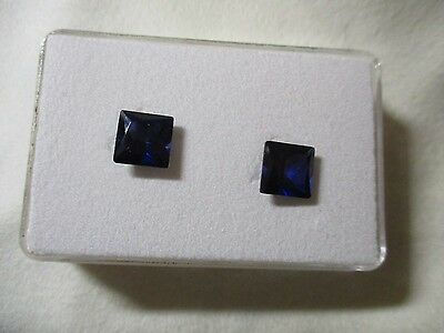 SAPPHIRE CORUNDUM [SYNTHETIC] x 2 TOTAL 5.90Ct  MF8413