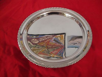 """Oneida Silver Plated Vintage Round Serving Tray, Good Condition (#706) 10.5"""""""