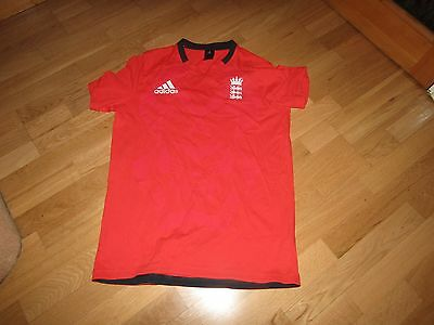 Adidas England Cricket t-shirt, red, size large