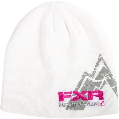 FXR PREMIUM BEANIE CAP HAT- MOUNTAIN White- NEW WITH TAGS