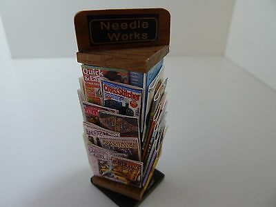 Dolls House Miniature 1:12 Scale Shop Haberdashery Stand Crafting Books