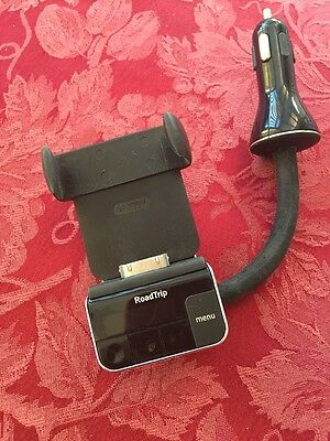 Griffin RoadTrip FM Transmitter, Charger & Cradle for 30 pin iPod iPhone Old Gen