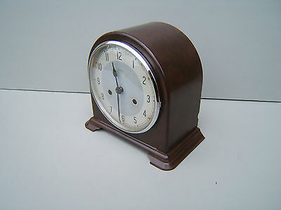 Smiths Enfield Bakelite  mantel clock working lubricated pen key  B2