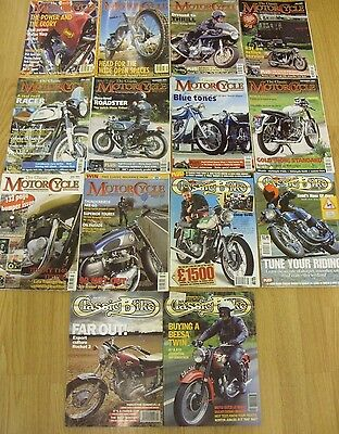 The Classic Motor Cycle Classic Bike Motorcycle Sport magazines job lot x 40