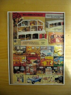 Lundby Dollhouse Vintage Page From A Catalog, Most Likely Sears