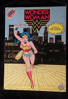 1984  Wonder Woman Super Powers 15 Piece Tray Puzzle Craft Master USED