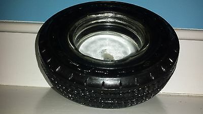 VINTAGE / ANTIQUE GOODYEAR CUSTOM SUPER CUSHION Tire Ashtray Older Collectible